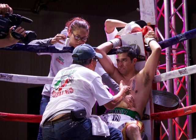 Rosales was already running low on petrol and he had only gone two rounds with the more determined Edgar Ivan Garcia.