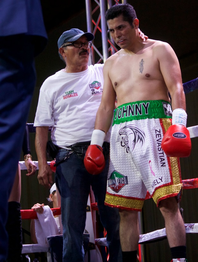 "In Bout #1, it was Johnny ""Azteca"" Rosales from Los Angeles coming south of the boarder to make certain that he won in his Pro debut. Extensive amateur career? No. In terrific shape? No. His opponent on Friday was Edgar Ivan Garcia"