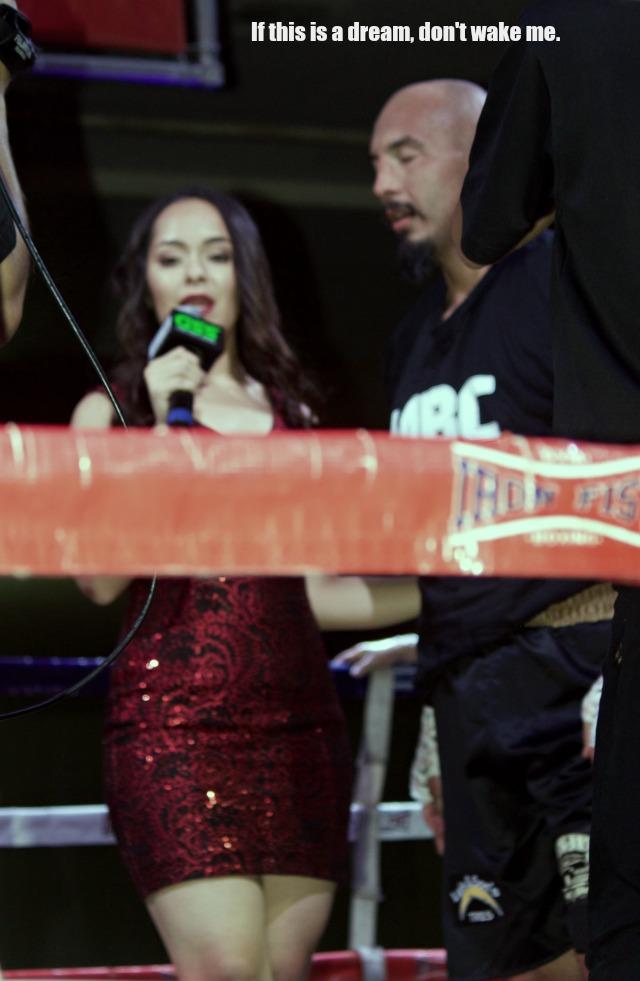 After the knockout win, one of the show's color commentators Shary Sarmiento interviewed Escalante for the LATV broadcast.